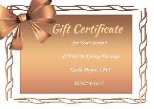 GIFT CERTIFICATE ~ PDX Bodysong Massage